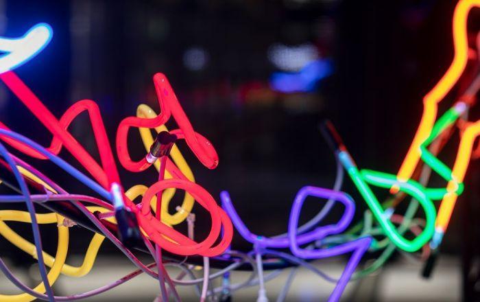 Technicolour art to brighten winter
