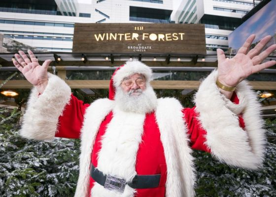 When Santa came to Broadgate...
