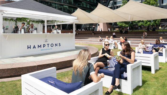 Broadgate and Regent's Place Bring the Hamptons to London