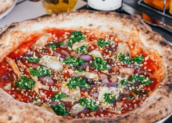Franco Manca's new pizza, perfect for Veganuary